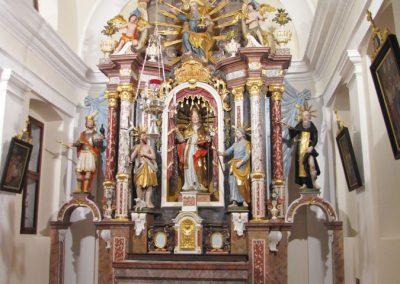 Obnova glavnega oltarja Sv. Nikolaja iz p. c. v Dvoru pri Polhovem Gradcu