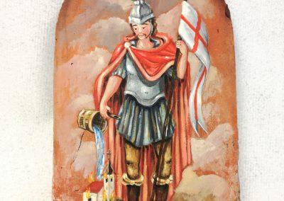 Unikatni Sv. Florijan na ročno izdelani strešni opeki