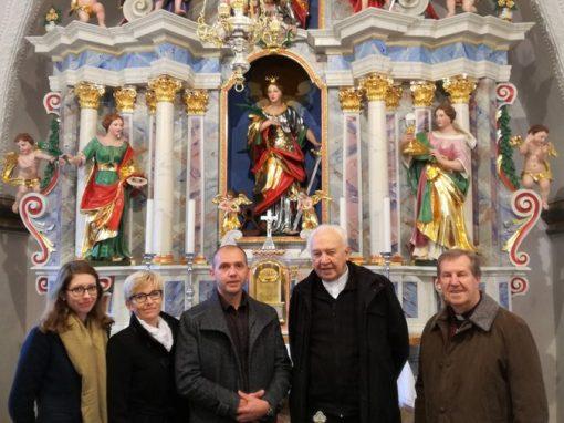 Obnova glavnega oltarja v p. c. na Medvedjem Brdu