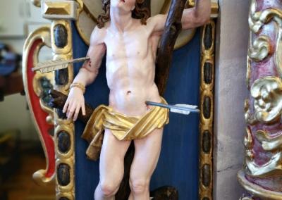 Lesena plastika sv. Sebastijana po posegu